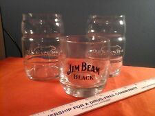 Jim Beam Black Glass & 2 Old Black Bear Keg style glasses.  Man Cave Items (J)