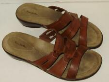 Womens Thom McAnn Brown Leather Slide Sandals Womens Size 11M