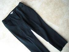 """Womens~Chico's~Black Cotton PANTS-slack size """"2"""" L-XL 16 short waist:37 thin-leg"""