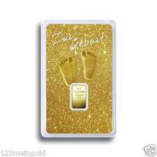 Degussa Goldbarren 1 Gramm (999,9 Feingold) 1g - Geburt