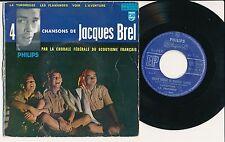 """LA CHORALE FEDERALE DU SCOUTISME BELGE 45 TOURS EP 7"""" FRANCE VOIR (JACQUES BREL)"""