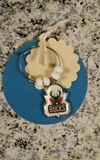 Handcrafted Milwaukee Bucks WineGlass Cup Identifier Charm White Party Supply