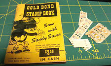 Gold Bond Stamp Book 1948 - with extra stamps - partial filled book