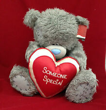 """ME TO YOU BEAR/TATTY TEDDY 20"""" SOMEONE SPECIAL RED & CREAM PADDED HEART BEAR"""