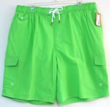 4XL/4X  Cargo Swim Trunks/Surf Shorts-Jasmine Green-The Foundry Supply Co.-NWT