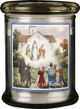 LADY OF KNOCK LED LIGHT GLASS JAR CANDLE - STATUES PICTURES CRUCIFIXES LISTED