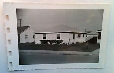 Vintage 40s Photo Picture Of Home In The Suburbs With New Lawn Grass