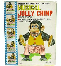Vintage Daishin Japan Musical Jolly Chimp Toy Story Mint w/Box & Hang Tag Works