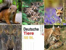 """""""TIERE AUS DEUTSCHLAND"""" Postkarten-Set (50 St.) - ideal für Postcrossing"""
