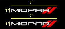"2-7""x1"" small mopar window vinyl decal stickers"