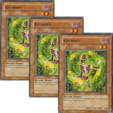 3 x Yugioh Krebons (TDGS-EN018) The Duelist Genesis Unlimited/1st Edition Cards