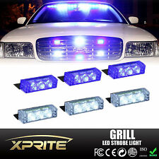 18 LED Emergency Car Vehicle Flash Strobe Light Dash Front Grille White & Blue
