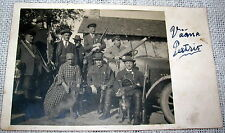 Vintage Hunting Party Scene - Guns, Dogs, Rabbits, Real Photo Postcard - RPPC