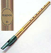 FEADOG TRADITIONAL IRISH TIN PENNY WHISTLE -  KEY OF D