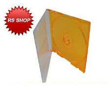 10 Orange 8cm Disc Jewel Case for CD-R CDs DVDs DVD