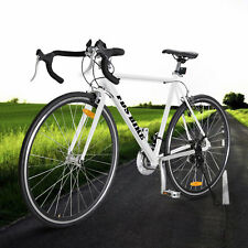 White Shimano 700C 54cm Aluminum Road/Commuter Bike Racing Bicycle 21 Speed