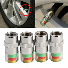 4 Pcs Car Auto Tire Pressure Monitor Valve Stem Cap F44 Indicator Eye Alert SS
