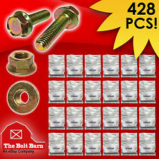 Grade 8.8 Metric Flange Bolt & Flange Nut Assortment Kit - 428 Pieces!