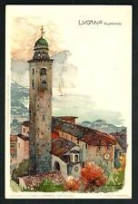 Lugano ( Svizzera ) : S. Lorenzo - Manuel Wielandt  - cart. non viaggiata - 1898