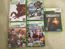 LOT OF 5 EMPTY LIGHT GREEN CD/DVD JEWEL CASES XBOX THAT HAVE COVERS AND MANUALS
