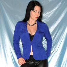 elegant blaue SATIN BLUSE glänzend* S 36/38 * Blazer Oberteil/ Top/ Shirt