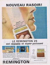 PUBLICITE ADVERTISING 054 1963 RASOIR Remington 25 est réglable et puissant