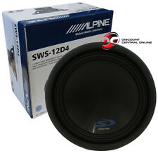 "ALPINE TYPE-S SWS-12D4 12"" CAR AUDIO DUAL 4-OHM SUB WOOFER 500W RMS"