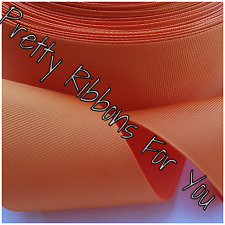 """Solid Orange 2"""" wide grosgrain ribbon the listing is for 10 yards"""