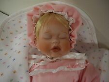"""Baby Book Treasures By Edwin M. Knowles """"Elizabeth's Homecoming""""  Porcelain Doll"""
