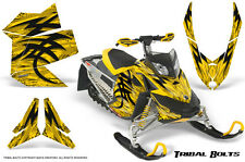 SKI-DOO REV XP SNOWMOBILE SLED CREATORX GRAPHICS KIT WRAP TRIBAL BOLTS YELLOW