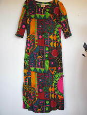 Vintage Stan Hicks Hawaiian Casuals lined fitted DRESS size 10?  70's Cotton