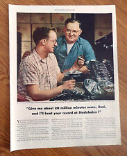 1948 Studebaker Ad  Father & Son  E J Ernie & Norman Linstedt South Bend Plant