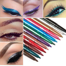 12pcs Glitter Lip liner Eye Shadow Eyeliner Pencil Pen Cosmetic Makeup Tools