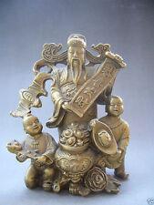 Belle dieu chinois de la richesse financière envoyer Fairchild laiton statue