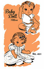 Vintage Mail Order Baby Doll Pattern 4931 -  Stuffed Rag Doll Clothes Mail Away