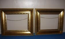VINTAGE PAIR GILT GOLD WOODEN CHUNKY PICTURE FRAMES