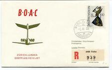 FFC 1966 Boac First Flight VC 10 Zurich Lusaka Sambia REGISTERED Liechtenstein
