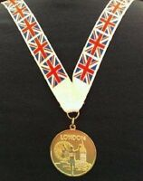Gold Medal- Gold London 2012 Olympics Style Medal With Lanyard (MI3)