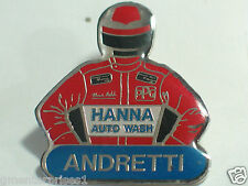 Vintage Andretti Race Car Driver Pin Vintage Indy Hanna Auto Wash Sponsor (#105)
