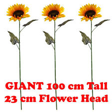 3 x 100cm GIANT SINGLE ARTIFICIAL SUNFLOWER