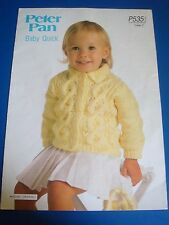 Peter Pan Children's Jacket Knitting Pattern P535