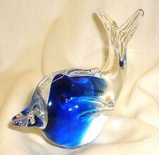 Glas Figur ~ DELFIN / DELPHIN oder WAL / WALFISCH ~ Glasfigur blau