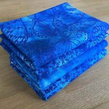 Melodía en Azul Paquete de Tela de batik Licuadora reservado 100% Algodón Acolchado