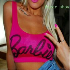 Green/Orange/Pink 'Barbie' Crop Top Size S-L