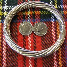 SILVER second hand opening bangle
