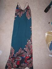 Mulit colored Glam spaghetti strap open back cocktail party evening dress sz M