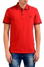 Just Cavalli Men's Red Short Sleeve Polo Shirt US L IT 52