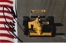 MARTIN DONNELLY HAND SIGNED CAMEL LOTUS F1 6X4 PHOTO 10.