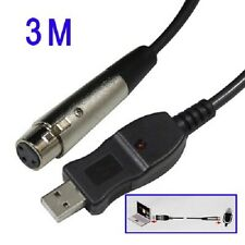 Plug and play USB Microphone Cable Cavo microfono lunghezza 3 m