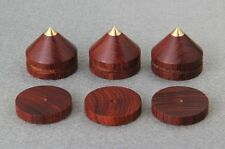 8Set Spikes + Pads Rosewood Wooden Copper speaker CD Isolation stands